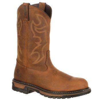 Rocky Original Ride Branson Steel Toe Waterproof USA Designed Boots SIZE AU8.5