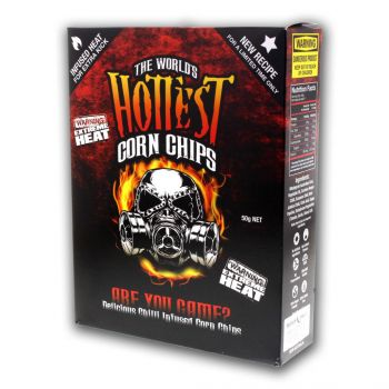World's Hottest Corn Chips - Carolina Reaper & Scorpion Extreme Chillies - Seed Bank