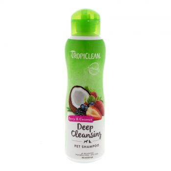Tropiclean Berry & Coconut Shampoo 355ml Healthy Hair Pet Treatment