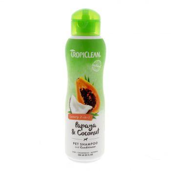 Tropiclean Papaya & Coconut Shampoo 355ml Healthy Hair Pet Treatment