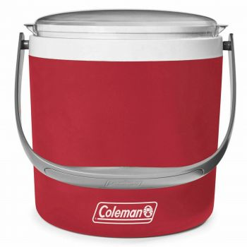 Cooler Party Circle Dusk Red Coleman Camping 12 Hour Ice Retention Party Deluxe