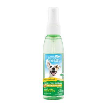Tropiclean Fresh Breath Peanut Butter Spray 118Ml