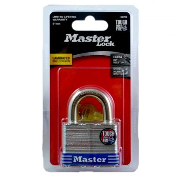 Master Lock Padlock Mstr Laminated 3/8 Aloy 50mm Lock Security Protection