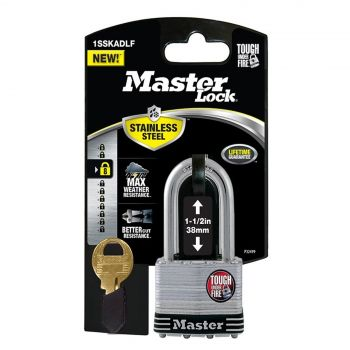 Master Lock Stainless Steel Laminated 44mm Body Shackle 38mm Security Protection