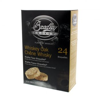 Bradley Whiskey Blend Bisquettes 24Pk Smoker Chips Cooking Smoking Flavour