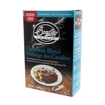 Bradley Premium Bisquettes Caribbean Blend 24Pk Smoker Chips Cooking Smoking