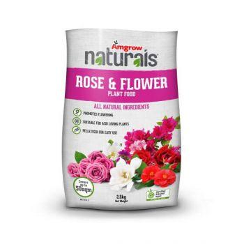 Rose & Flower Plant Food Naturals Amgrow 2.5Kg