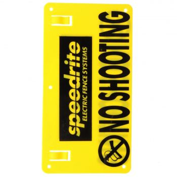 No Shooting Warning Sign Speedrite Fencing Farm Accessory Fitting Equipment