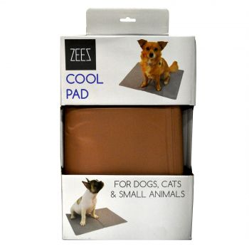 Zeez Cool Pad Bronze X-Small 40cm X 30cm Dog Pet Bed Cooling Mat Absorb Heat