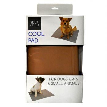Zeez Cool Pad Bronze Medium 65cm X 50cm Dog Pet Bed Cooling Mat Absorb Heat