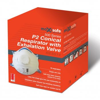 PV2 Conical Respirator w/ Valve Certified AS/NZS 1716 Low Cost Protection Splash