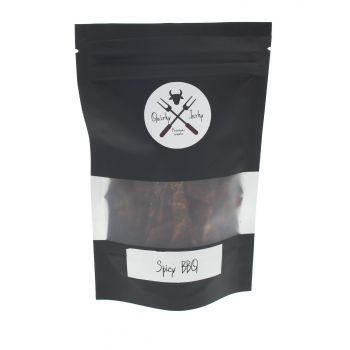 Spicy Bbq Jerky Quirky Jerky Beef Medium Heat Flavoured Spicy Snack Sized Pack
