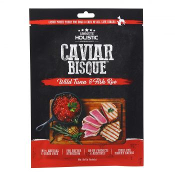 Absolute Holistic Tuna & Caviar Bisque 60g Dog Cat Treat Liquid Puree