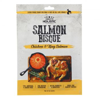 Absolute Holistic Chicken & King Salmon Bisque 60g Dog Cat Treat Liquid Puree