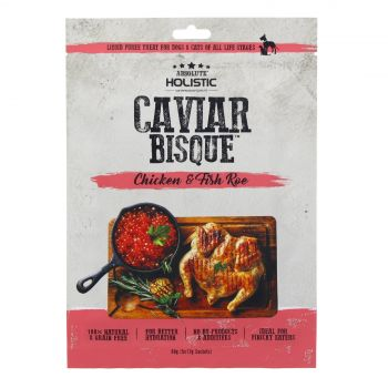 Absolute Holistic Chicken & Caviar Bisque 60g Dog Cat Treat Liquid Puree