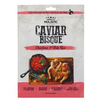 Absolute Holistic Chicken & Caviar Bisque 60g Dog Cat Treat Liquid Puree