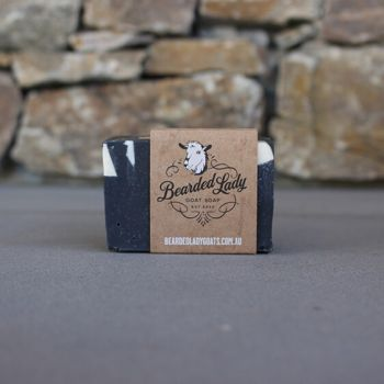 Activated Charcoal Bearded Lady Goat Soap