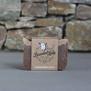 Mocha Cream Latte Bearded Lady Goat Soap