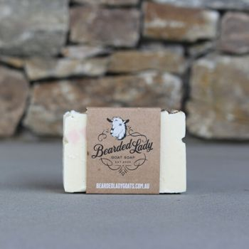 Luxurious Lavender Bearded Lady Goat Soap