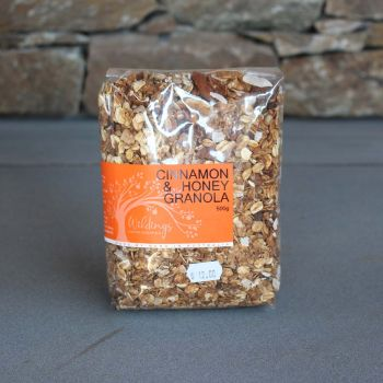 Wildings Cinnamon Honey Granola 500G