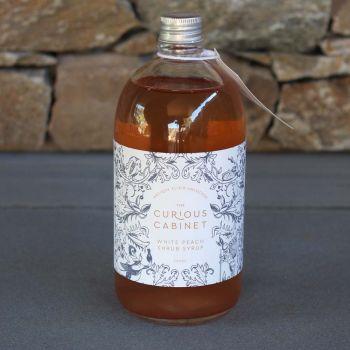 The Curious Cabinet White Peach Shrub Syrup 500Ml
