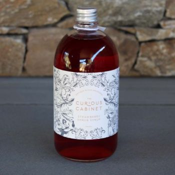 The Curious Cabinet Strawberry Shrub Syrup 500Ml