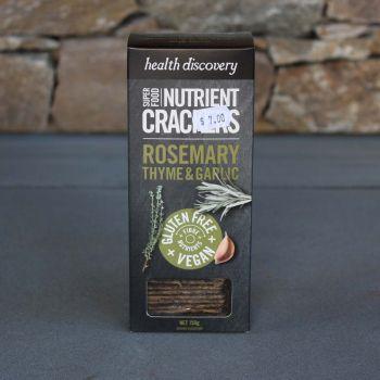 Rosemary Thyme & Garlic Crackers 150G