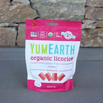 Yum Earth Organic Licorice Strawberry 142G