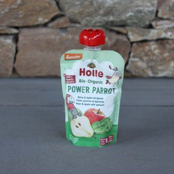 Holle Organic Pouch Pear W/Apple & Spinach 100G