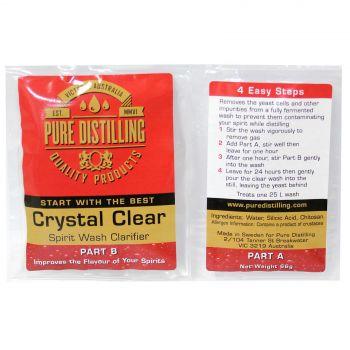 Crystal Clear Spirit Wash Clarifier Pure Distilling Home Brew EACH