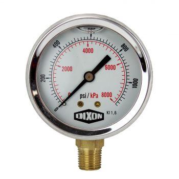 "Water and Air Pressure Gauge New 1/4"" Brass BSPT Thread 0 - 1160psi/8000kpa"