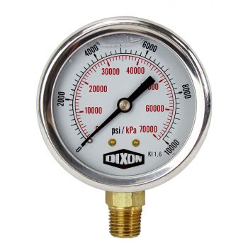 "Water and Air Pressure Gauge New 1/4"" Brass BSPT Thread 0 - 10000psi/69000kpa"