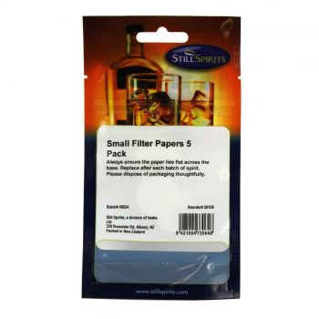 Still Spirits Small Filter Papers 5 Pack Home Brew Replacement Refill Spirit