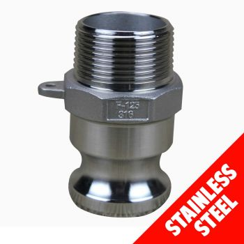 "Camlock STAINLESS STEEL 316 40mm (1 1/2"") Type F Male Adaptor x Male Cam Lock"