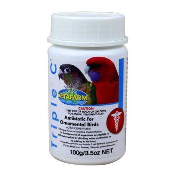 Vetafarm Triple C Antibiotic for Ornamental Birds Aviary 100g