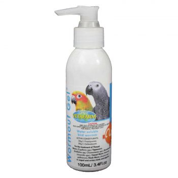 Vetafarm Wormout Gel Bird Wormer Aviary 100ml (3.4 fl oz)