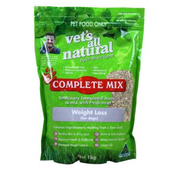 Vets All Natural Complete Mix Dog Food Weight Loss 1kg