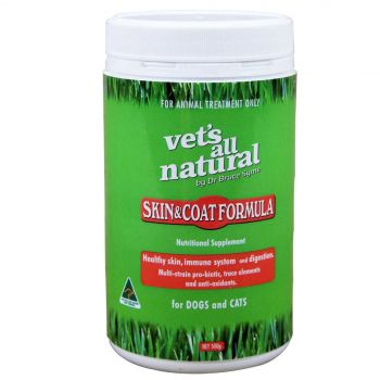 Vets All Natural Skin and Coat Formula Health Treatment Dogs and Cats 500g